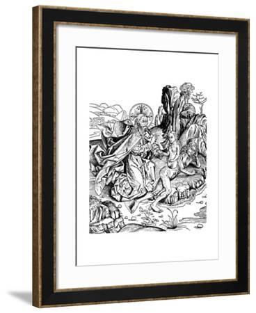 God Creating Eve from Adam's Rib, 1493--Framed Giclee Print