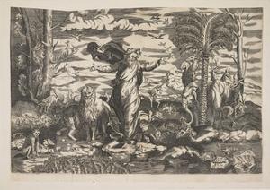 God Creating the Animals, C.1550