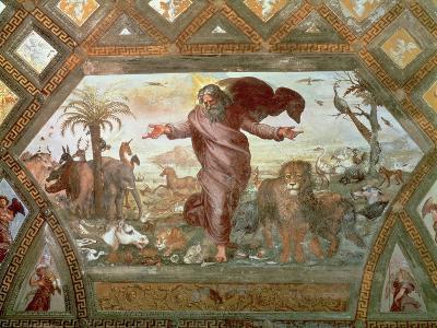 God Creating the Earth-Raphael-Giclee Print
