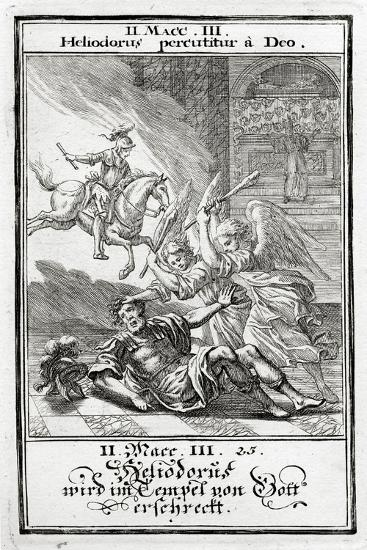 God Frightens Heliodorus in a Temple, 2 Maccabees-Christoph Weigel-Giclee Print