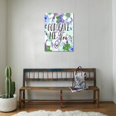God Gave Me You Green Art Print By Tara Moss Artcom