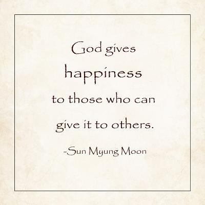 God Gives Happiness-Veruca Salt-Art Print