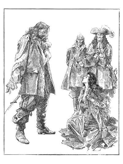 God Help Me! Cried Alvarado, Throwing Aside The Poniard-Will Crawford-Art Print