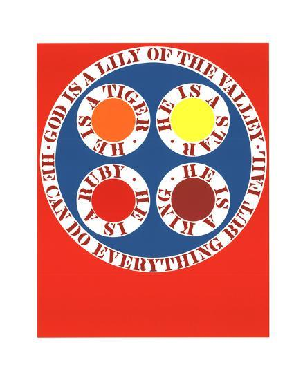 God Is Lily of the Valley-Robert Indiana-Serigraph