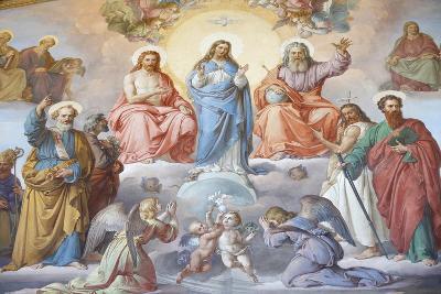 God, Jesus and Mary, Vatican Museum, Vatican, Rome, Lazio, Italy, Europe-Godong-Photographic Print