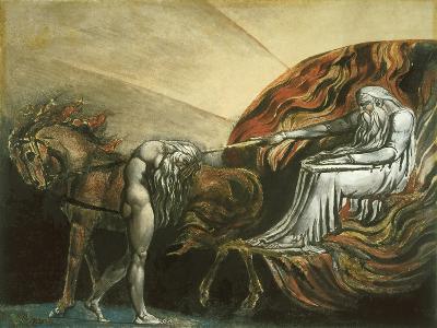 God Judging Adam-William Blake-Giclee Print