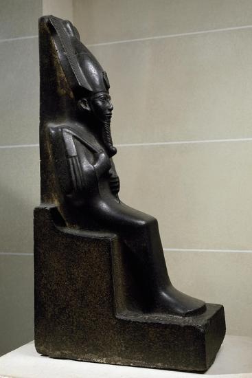 God Osiris, Diorite Statue, New Kingdom, Third Intermediate Period--Giclee Print