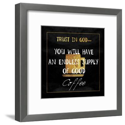 God's Coffee-Sheldon Lewis-Framed Art Print