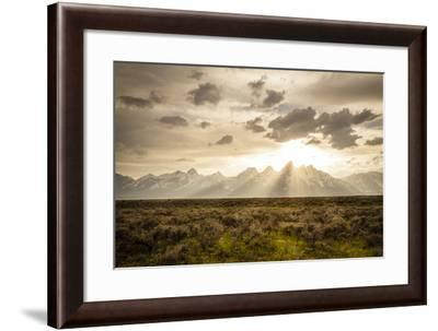 God's Light Over The Tetons-Louis Arevalo-Framed Photographic Print