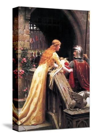 God Speed Fair Knight-Edmund Blair Leighton-Stretched Canvas Print