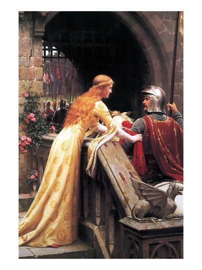 God Speed Fair Knight-Edmund Blair Leighton-Art Print