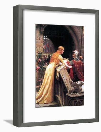 God Speed Fair Knight-Edmund Blair Leighton-Framed Art Print