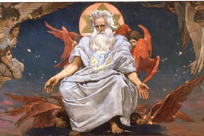 God the Father, 1885-1896-Viktor Mihajlovic Vasnecov-Giclee Print