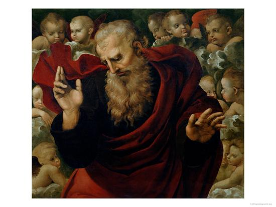 God the Father Blessing-Raphael-Giclee Print