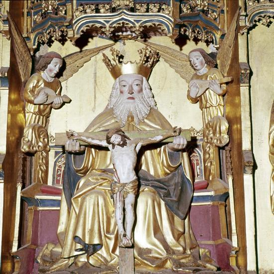 God the Father with Christ altarpiece from Lubeck, 1470-1480-Unknown-Giclee Print