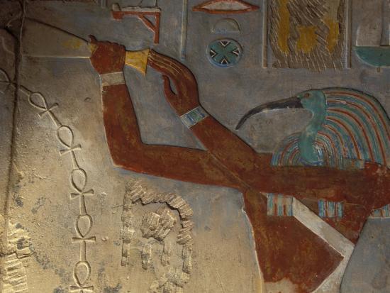 God Thoth Purifying Hetsheput at the Karnak Temple, Egypt-Claudia Adams-Photographic Print