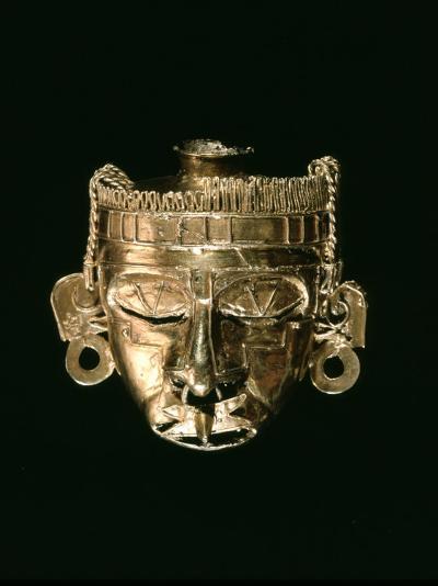 God Xipe Totec, Gold Mask, called Nuestro Senor el Desollado--Photographic Print