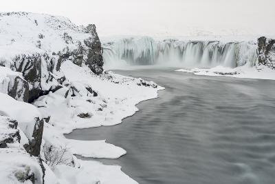 Godafoss Waterfall of Iceland During Winter-Martin Zwick-Photographic Print