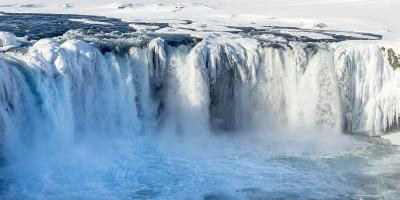 Godafoss Waterfall of Iceland During Winter-Martin Zwick-Photographic Print
