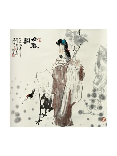 Goddess and Crane-Shuli Wang-Giclee Print