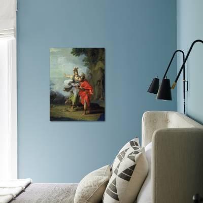 Goddess Athena Reveals Ithaca to Greek hero Ulysses Giclee Print by  Giuseppe Bottani   Art com