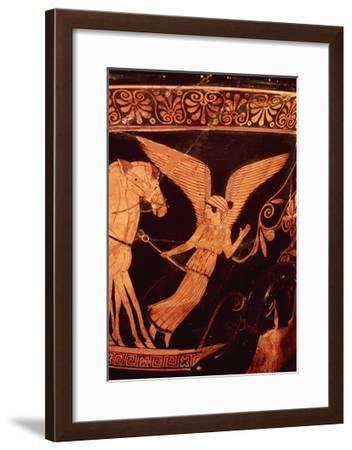 Goddess Iris, Personification of Rainbow, Detail from Crater, Red-Figure Pottery, 5th Century BC--Framed Giclee Print