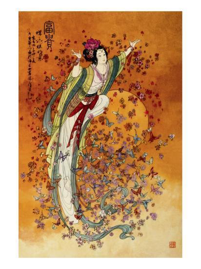 Goddess of Wealth--Premium Giclee Print