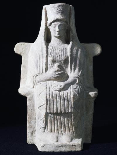 Goddess on Throne, Ancient Greece--Giclee Print