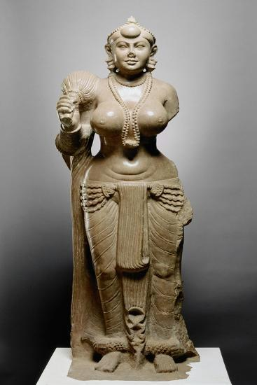 Goddess with Fly Whisk, Didarganj Patna Culture, 300 Bc--Giclee Print