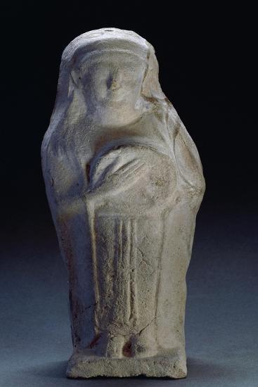 Goddess with Tambourine, Terracotta Statue, from Tharros, Sardinia, Italy--Giclee Print