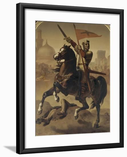 """Godefroy de Bouillon, duc de Basse-Lorraine, élu """"Avoué du Saint Sépulcre de Jérusalem"""" en 1099-Emile Signol-Framed Giclee Print"""