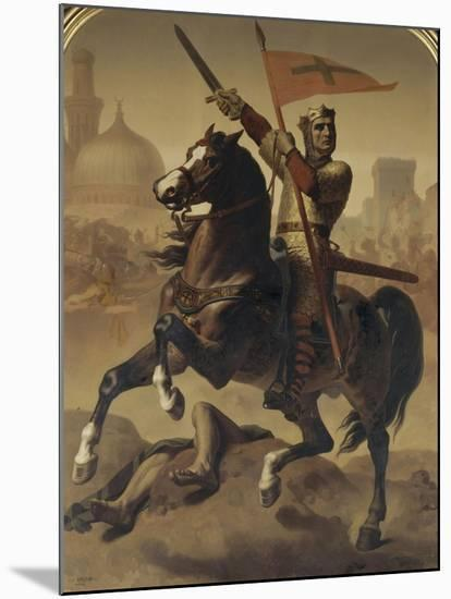 """Godefroy de Bouillon, duc de Basse-Lorraine, élu """"Avoué du Saint Sépulcre de Jérusalem"""" en 1099-Emile Signol-Mounted Giclee Print"""