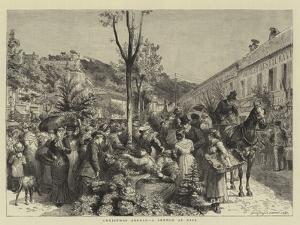 Christmas Abroad, a Sketch at Nice by Godefroy Durand