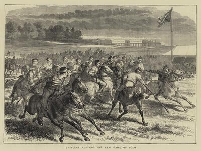Officers Playing the New Game of Polo