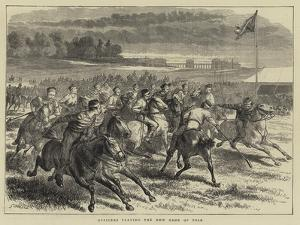 Officers Playing the New Game of Polo by Godefroy Durand