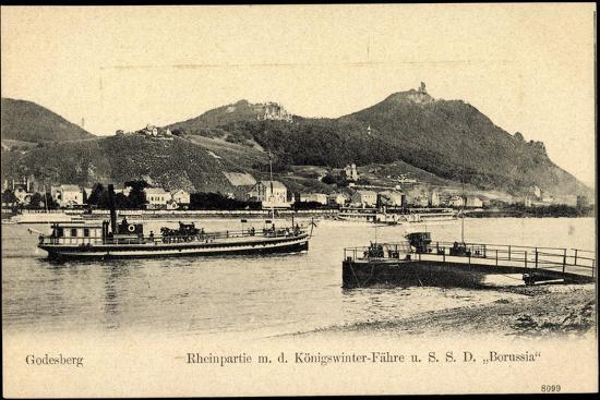 Godesberg Bonn, Königswinter Fähre S.S.D. Borussia--Giclee Print