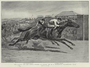 The Finish for the Derby Stakes at Epsom, Mr W C Whitney's Volodyovski Wins by Godfrey Douglas Giles
