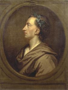 Alexander Pope (1688-1744) Profile, Crowned with Ivy by Godfrey Kneller