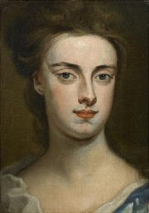 Portrait Head of a Lady by Godfrey Kneller