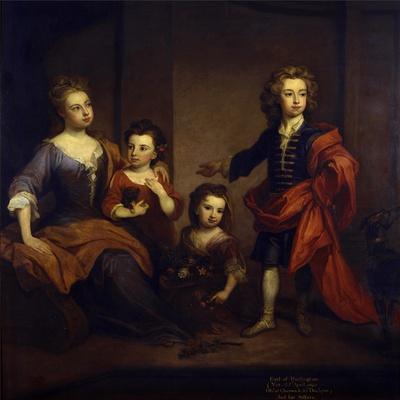 Portrait of Richard Boyle, 3rd Earl of Burlington, with His Three Sisters, Elizabeth, Juliana and…