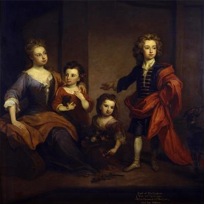 Portrait of Richard Boyle, 3rd Earl of Burlington, with His Three Sisters, Elizabeth, Juliana and…
