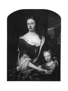 William, Duke of Gloucester, with His Mother, Queen Anne by Godfrey Kneller
