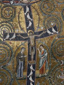 12th Century Fresco of Christ's Triumph on the Cross, San Clemente Basilica, Rome, Lazio by Godong