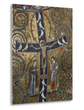 12th Century Fresco of Christ's Triumph on the Cross, San Clemente Basilica, Rome, Lazio