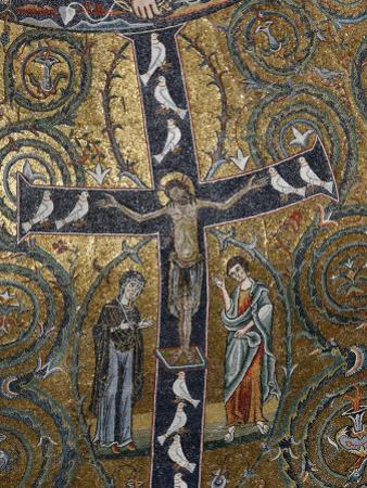 12th Century Fresco of Christ's Triumph on the Cross, San Clemente Basilica, Rome, Lazio by Godong