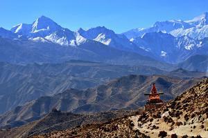 Annapurna landscape, Mustang, Nepal, Himalayas, Asia by Godong