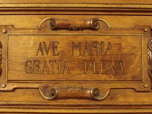 Ave Maria Gratia Plena, Reredos, Sainte-Marie Des Batignolles Church, Paris, France, Europe by Godong