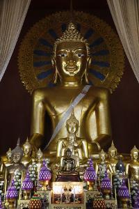 Buddha statues in Wat Chedi Luang, Chiang Mai, Thailand, Southeast Asia, Asia by Godong