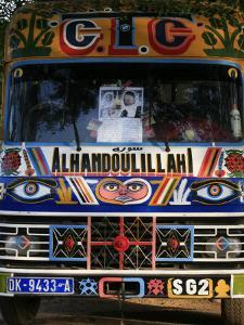 Bus with Religious Signs, Senegal, West Africa, Africa by Godong
