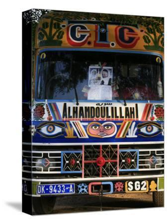 Bus with Religious Signs, Senegal, West Africa, Africa